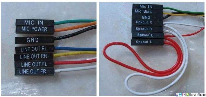 机箱前置音频跳线的连接方法图片